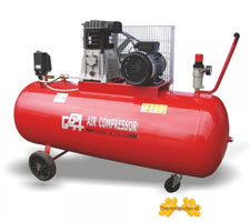 Mobiele compressor 200 liter
